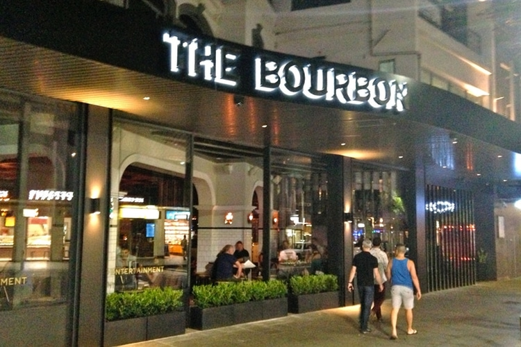 the bourbon restaurant outside