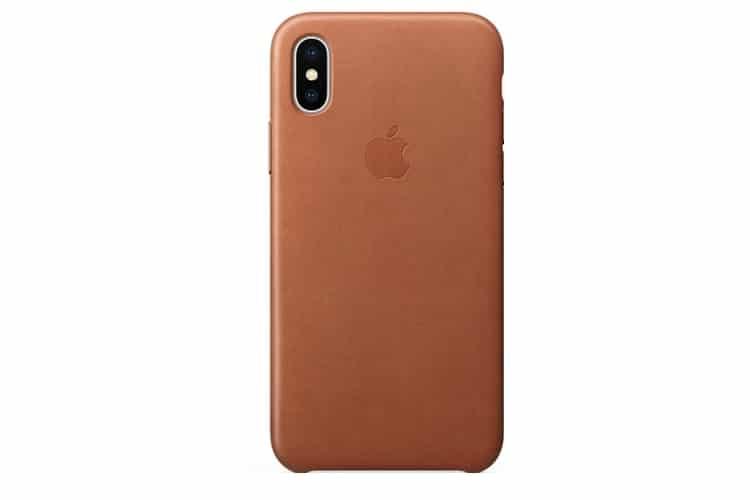 iphone x leather case back view
