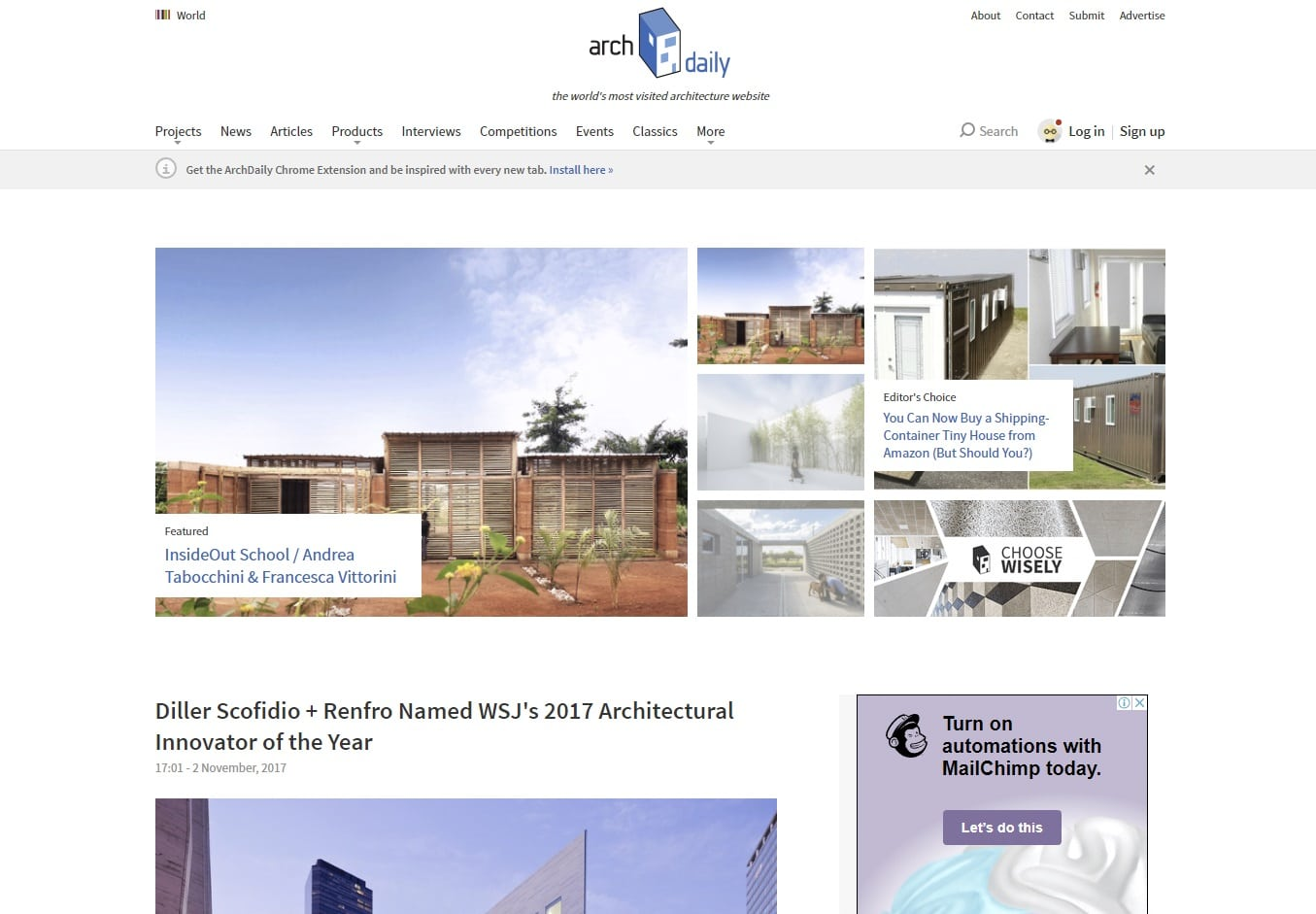 archdaily architecture blogs