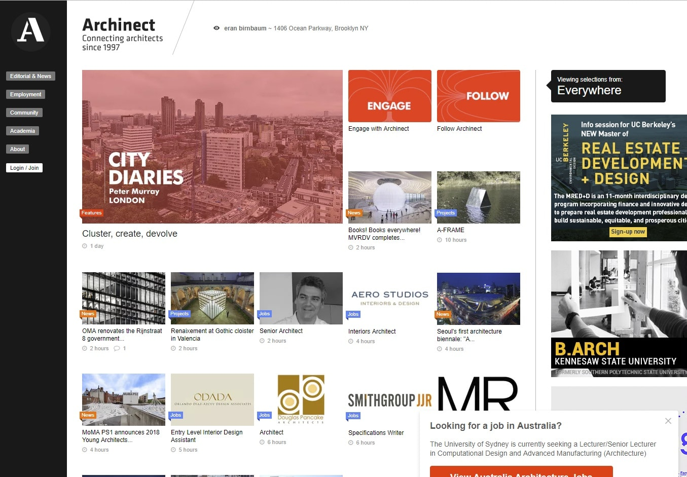 archinect architecture blogs
