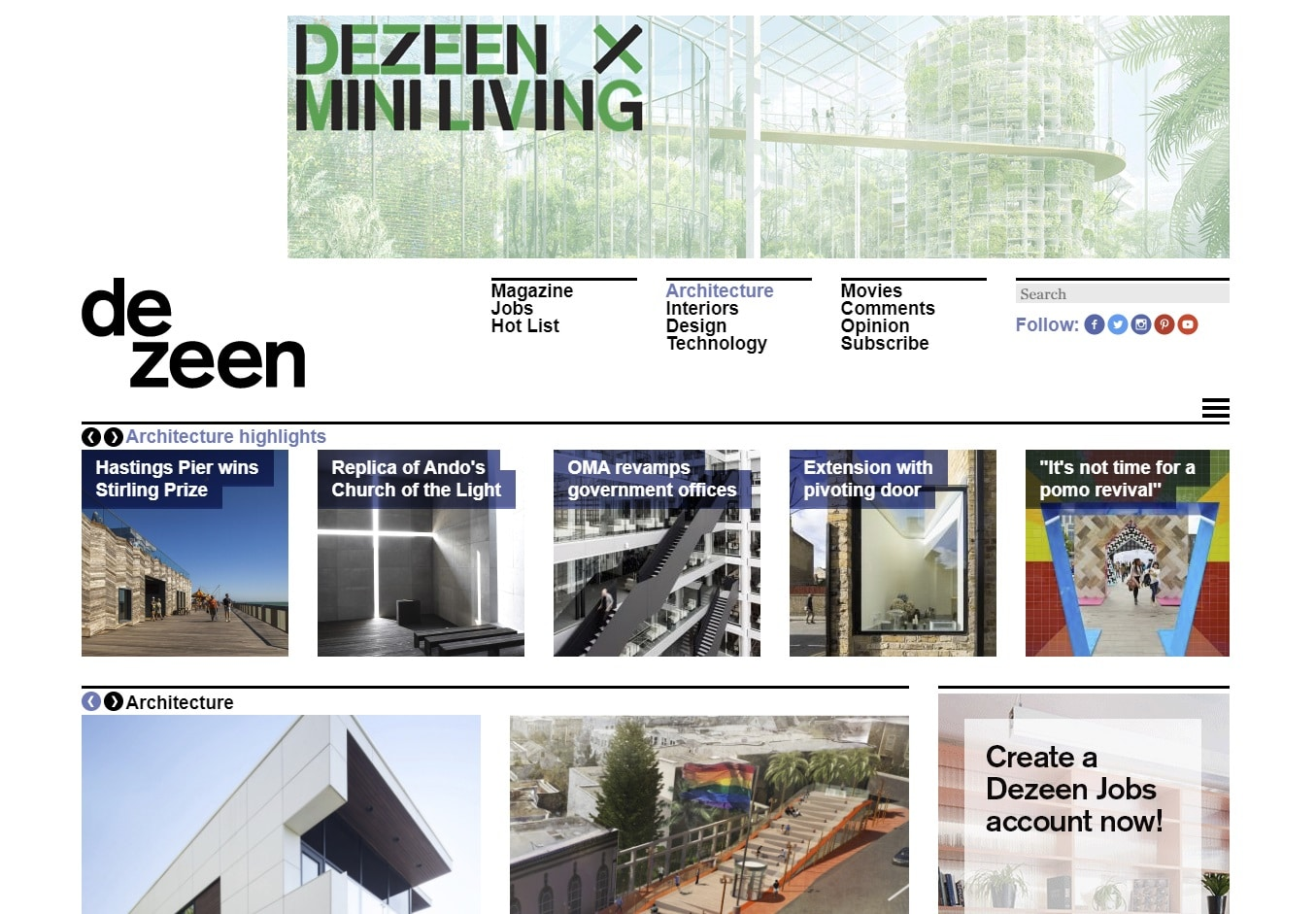 dezeen architecture blogs