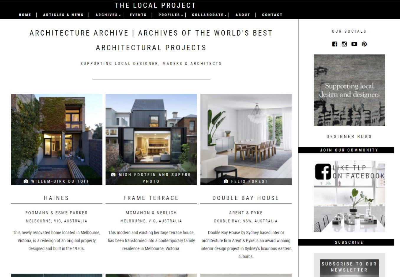 the local project architecture blogs