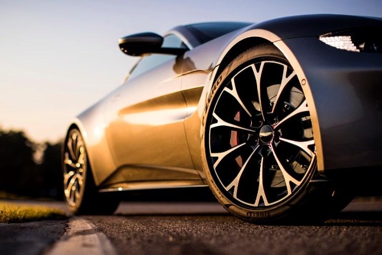 grey aston martin vantage car wheel