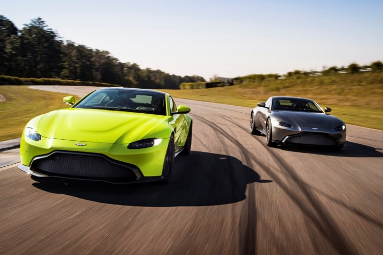 the 2018 aston martin vantage is a gleaming neon predator man of many. Black Bedroom Furniture Sets. Home Design Ideas