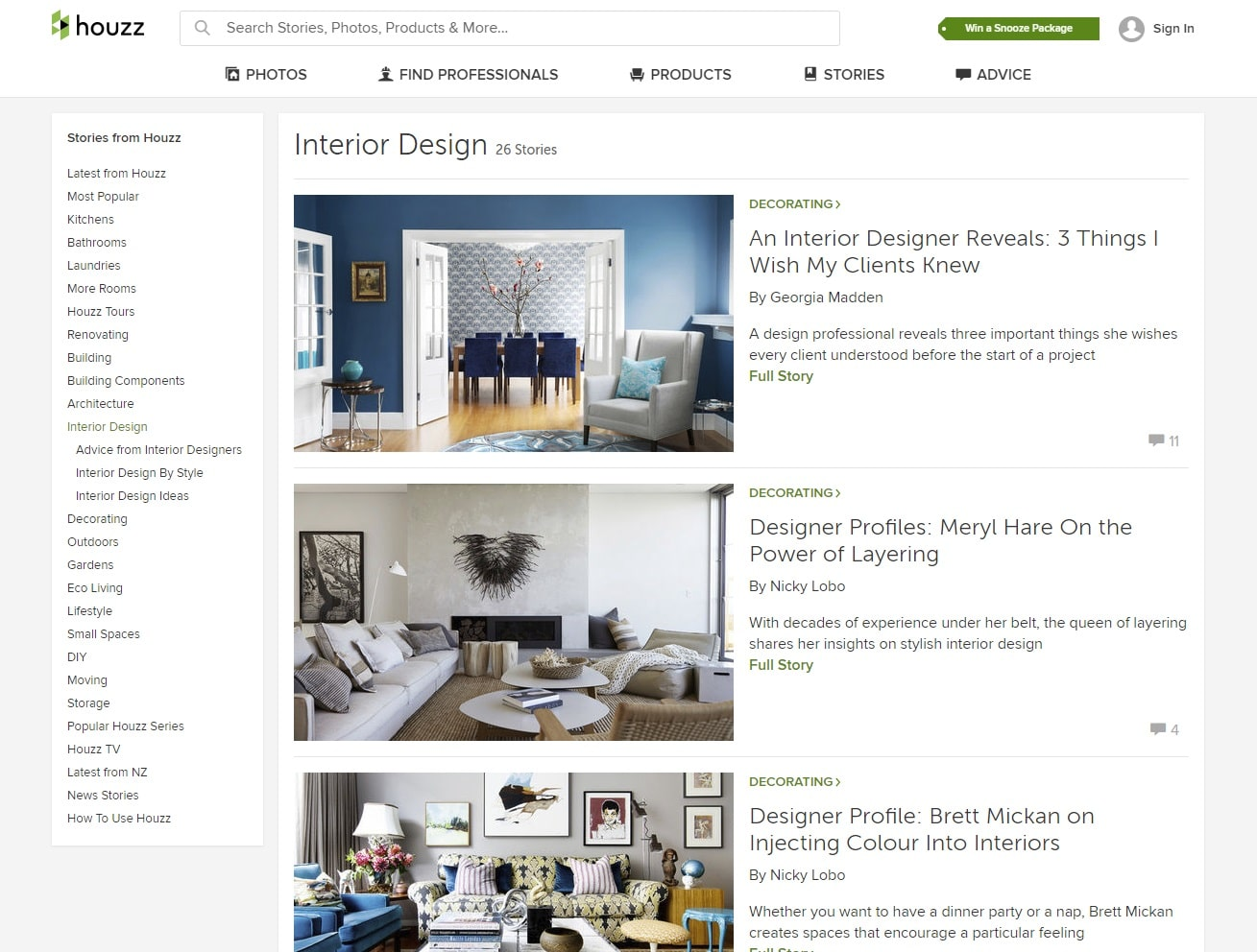 houzz interior design website