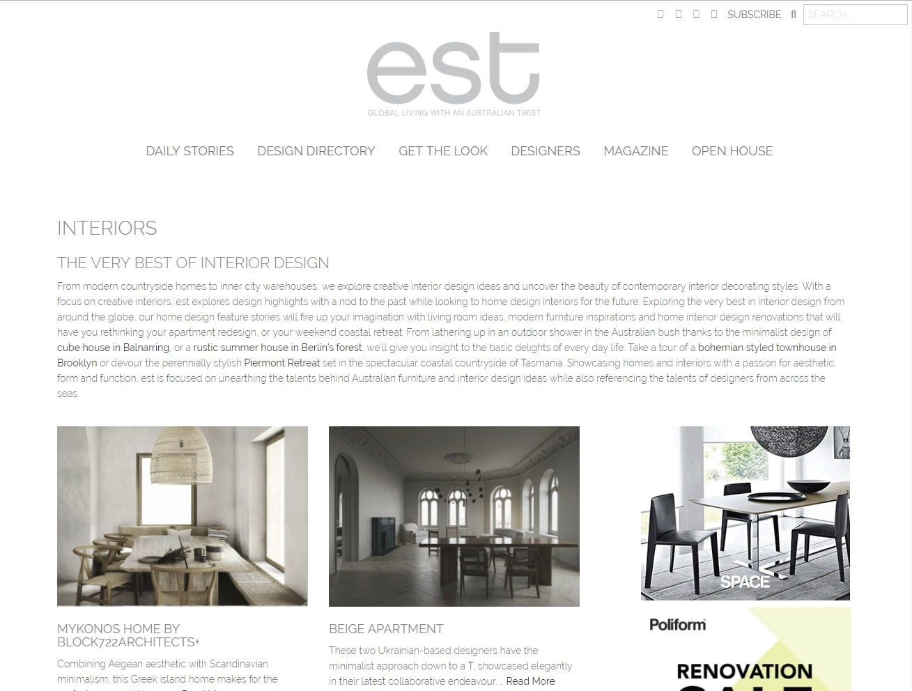 est pretty interior design blog