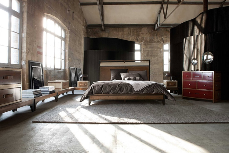 masculine bedroom interior decoration