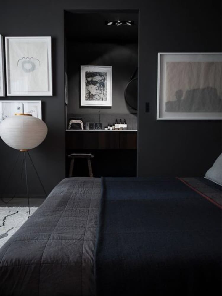 masculine bedroom decorates by pictures