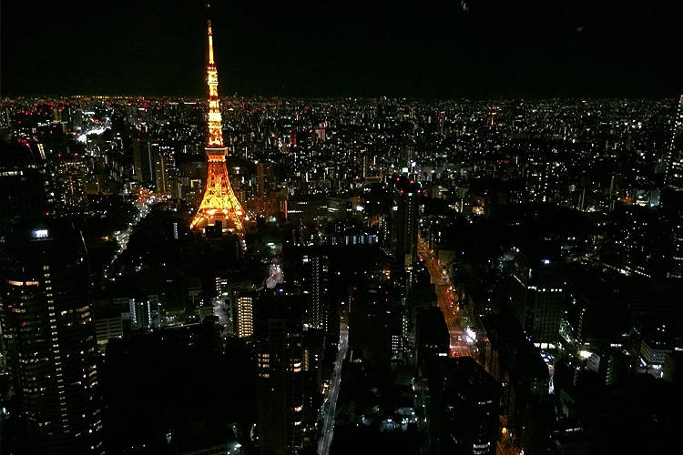tokyo city look view in night