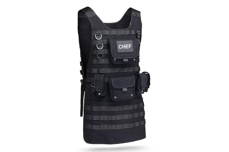 christmas gift guide thinkgeek tactical chef apron
