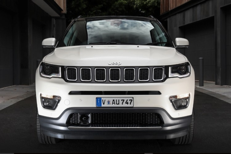 white 2018 jeep compass front