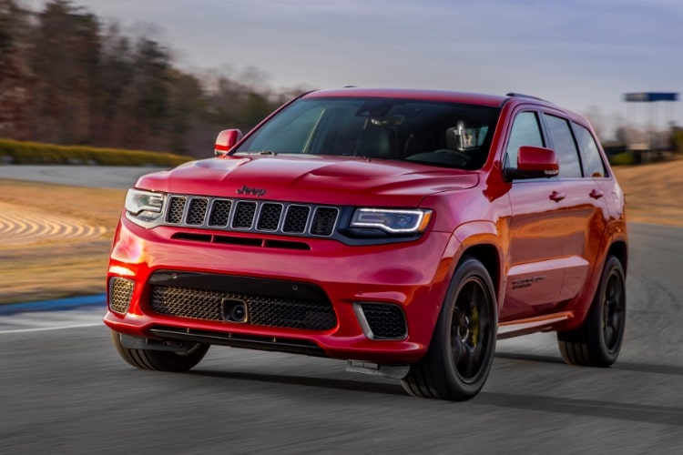 jeep grand cherokee trackhawk front side