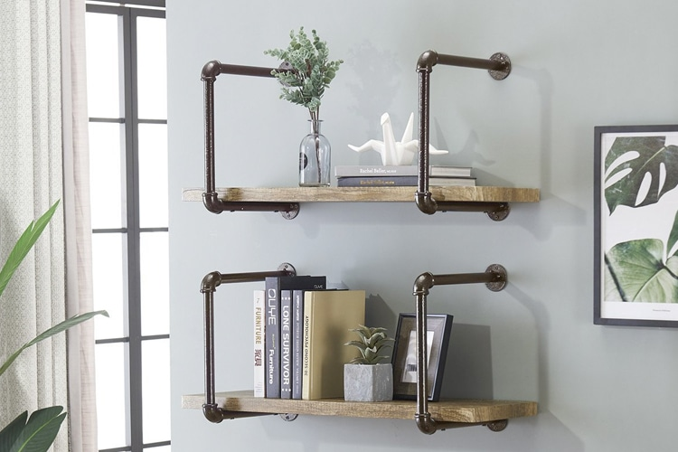 alternatives industrial wall shelving