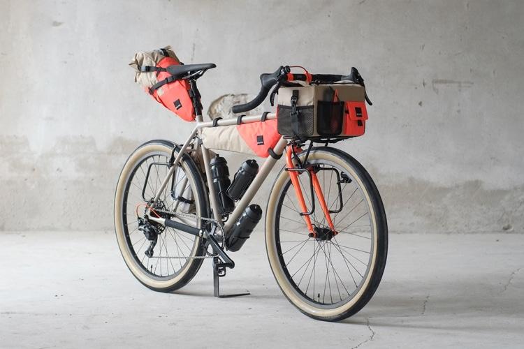 collaboration between gramm tour packing fern bike view