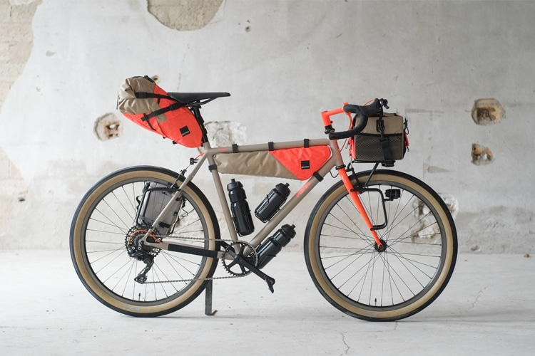 collaboration between gramm tour packing fern bike