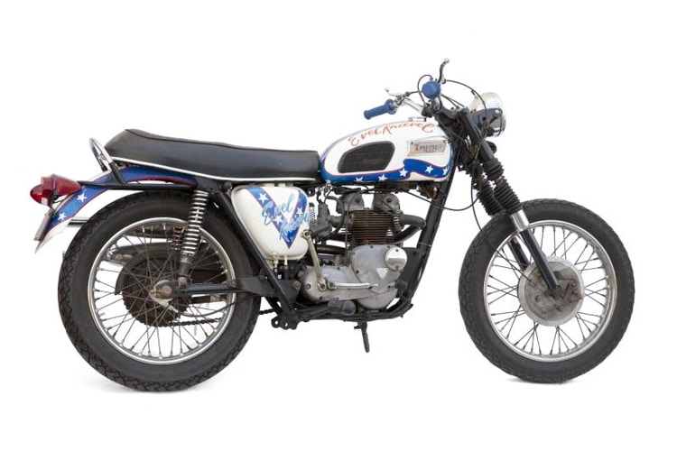 new evel knievel 1970 triumph motorcycle