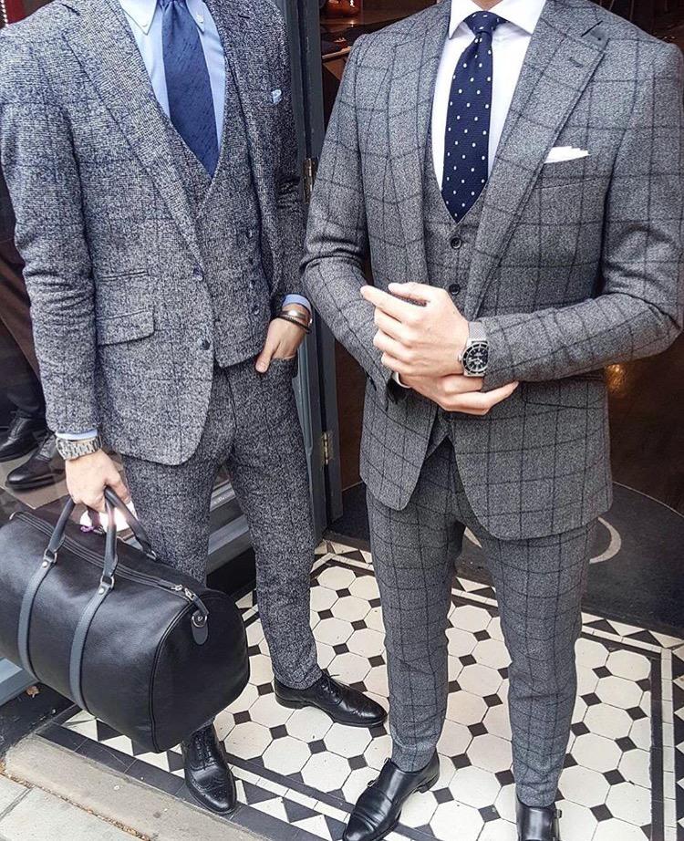 mens cocktail attire accessories pair