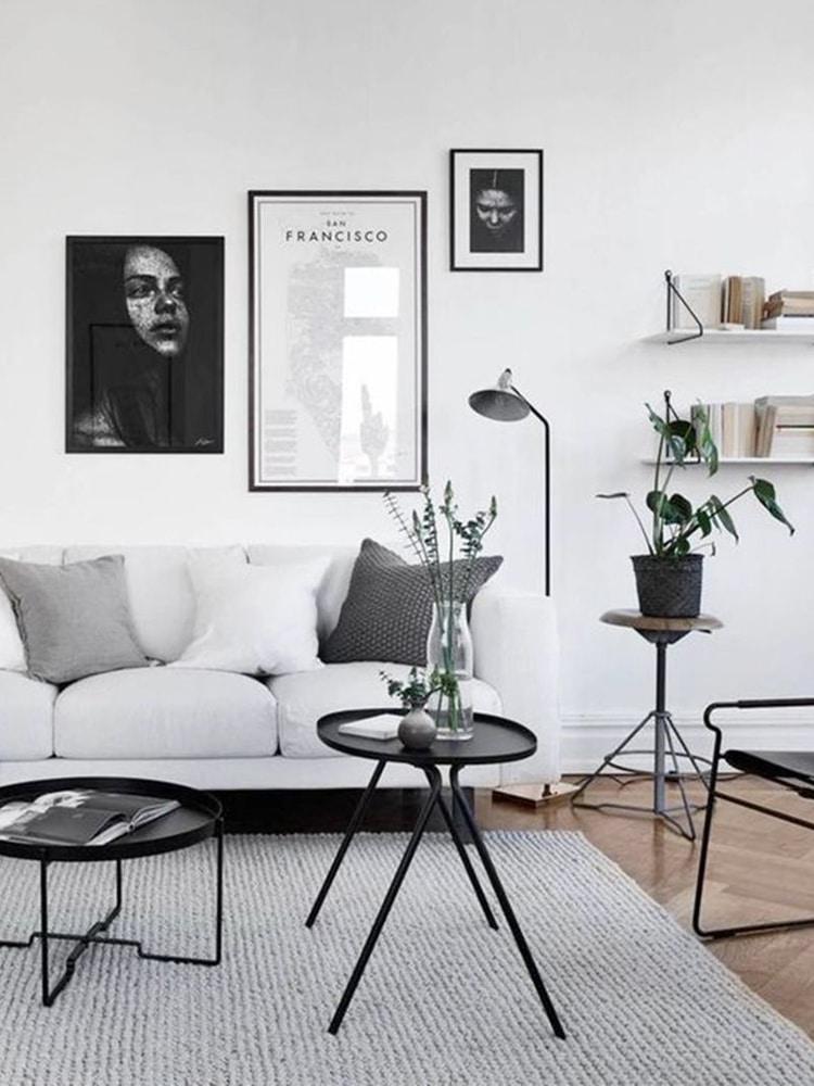 white natural interior design