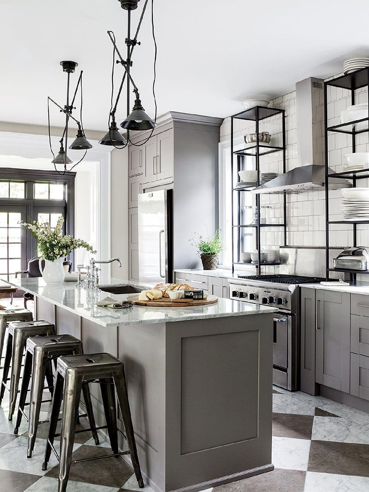 masculine kitchen with dining table
