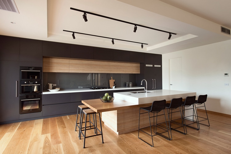 go for a purely modernist masculine kitchen