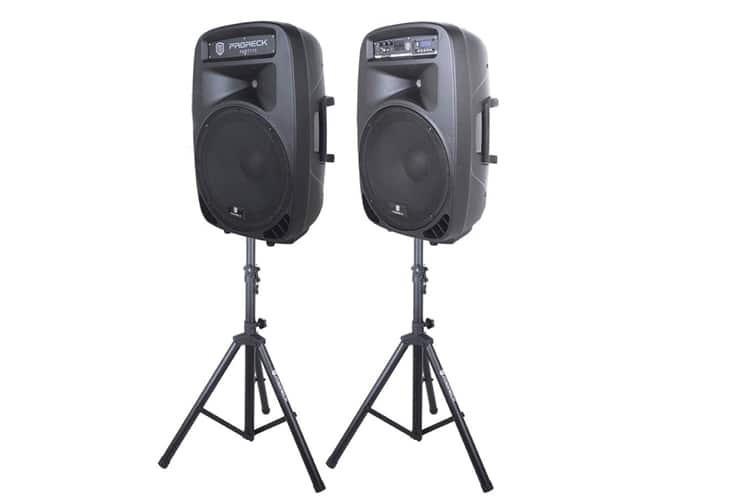 proreck party portable 15 2000w pa speaker system