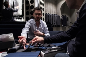 talking buying a new suit