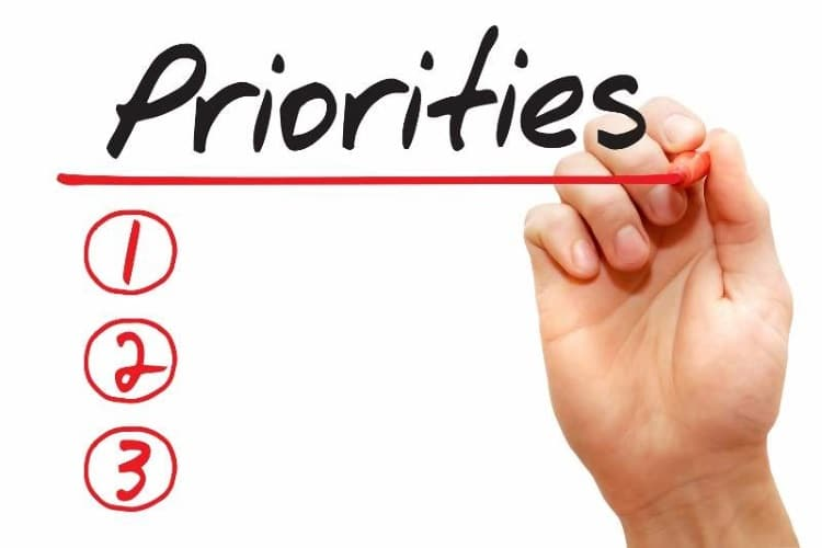 prioritise your tasks