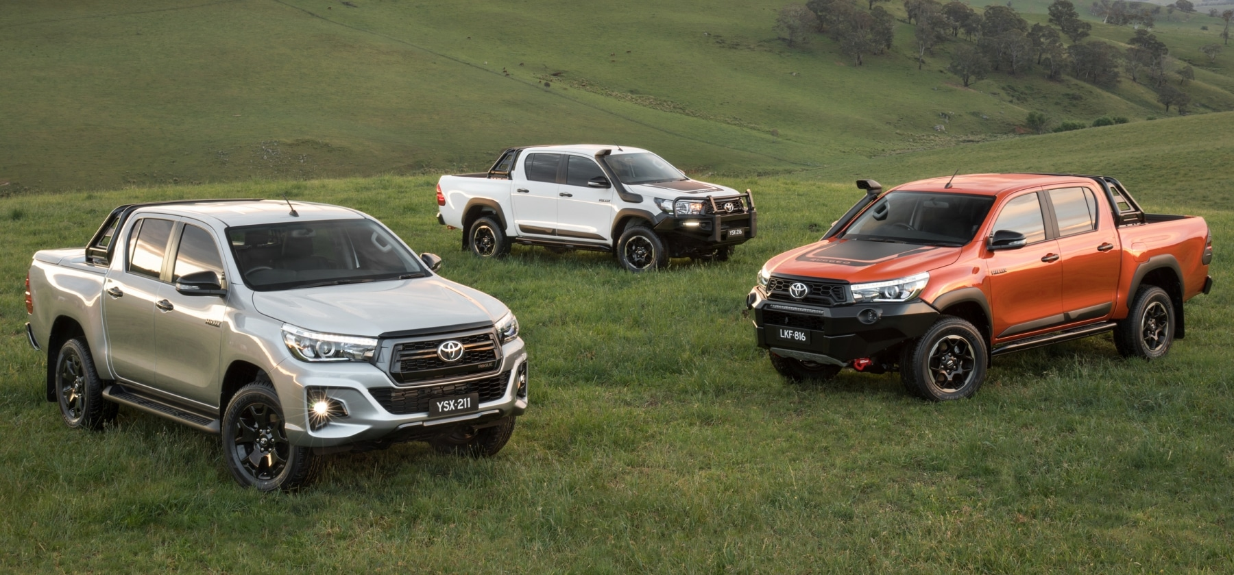 toyota hilux rugged x different models