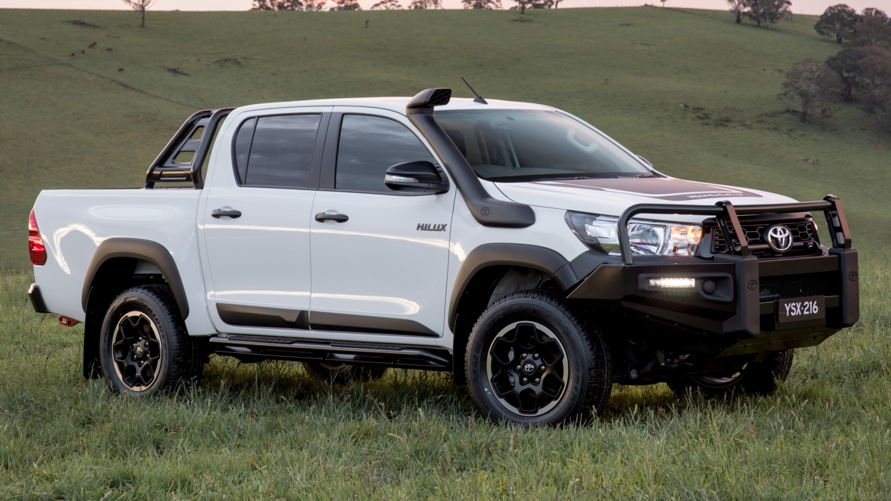 toyota hilux rugged x white color