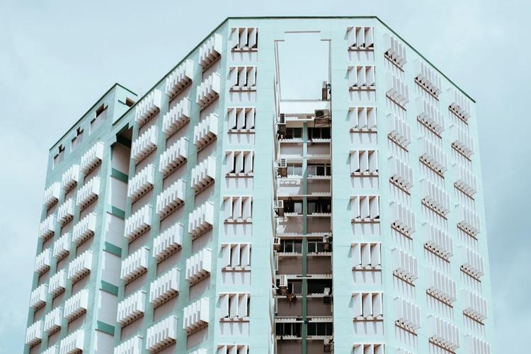 singapore city building shape