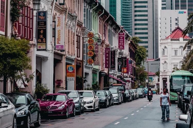 singapore city parking lot