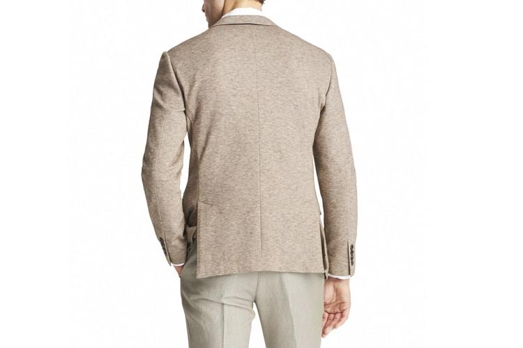 men's style side vent suit jacket back