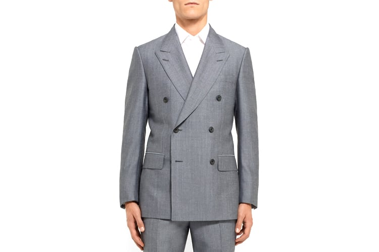 men's style double breasted suit