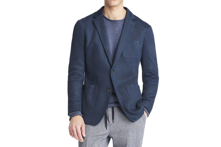men's style patch pocket blazer casual look