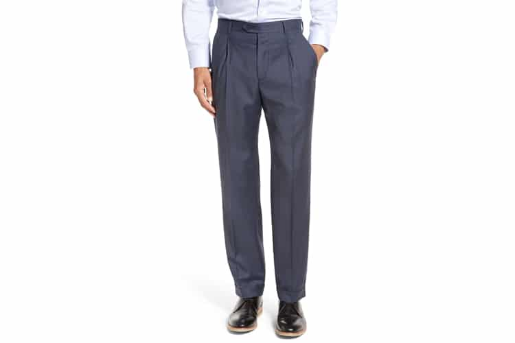 men's style pleated pants