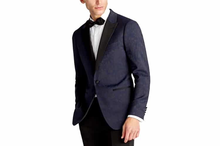 peak lapel men's double breasted suit