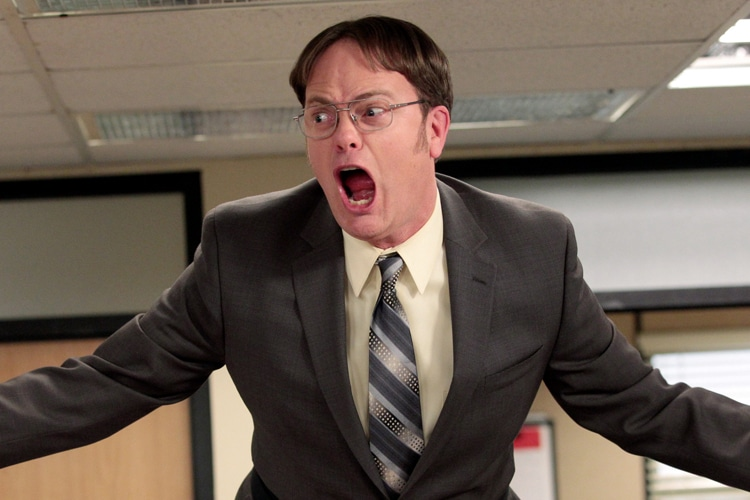 dwight from the office screaming