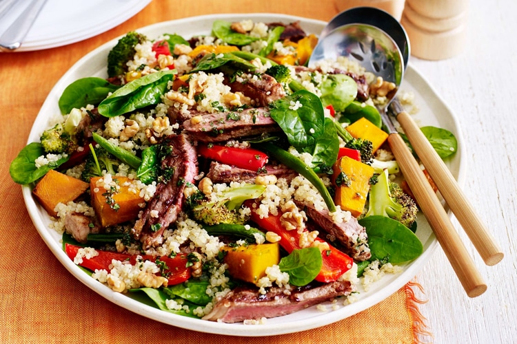 beef with quinoa salad