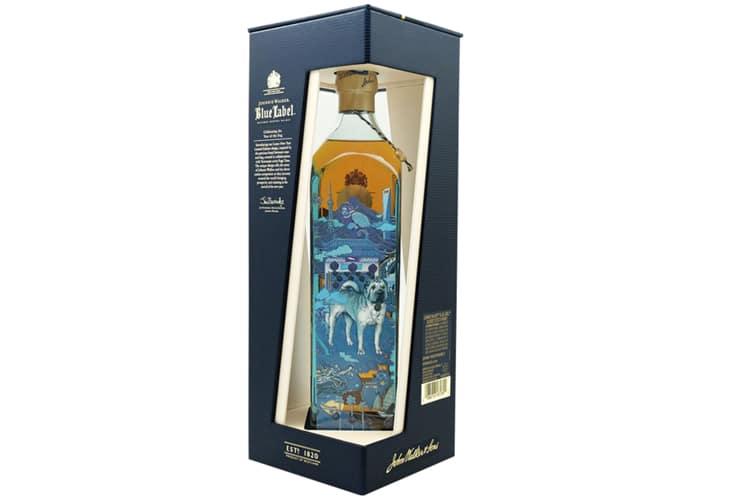 johnnie walker blue whisky bottle
