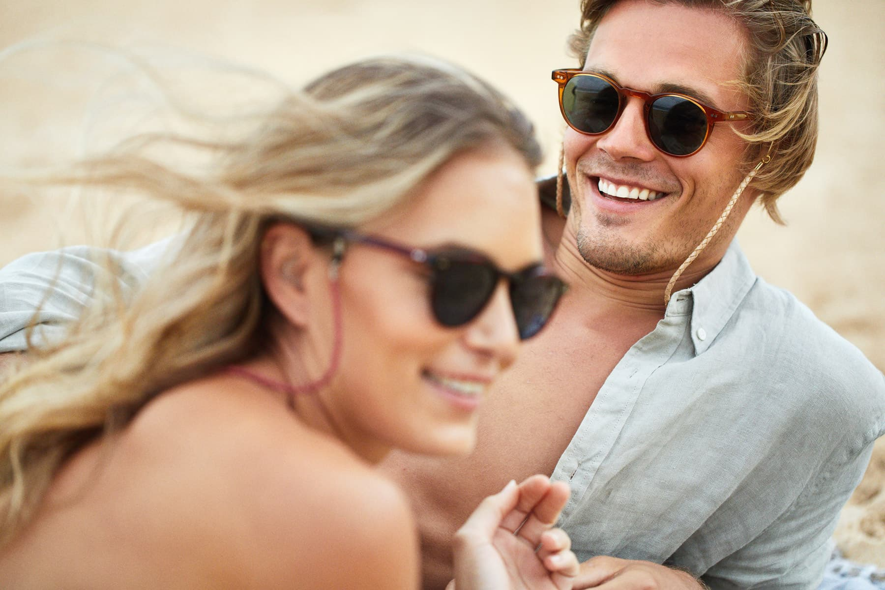 x pacifico optical sunglass men smiling