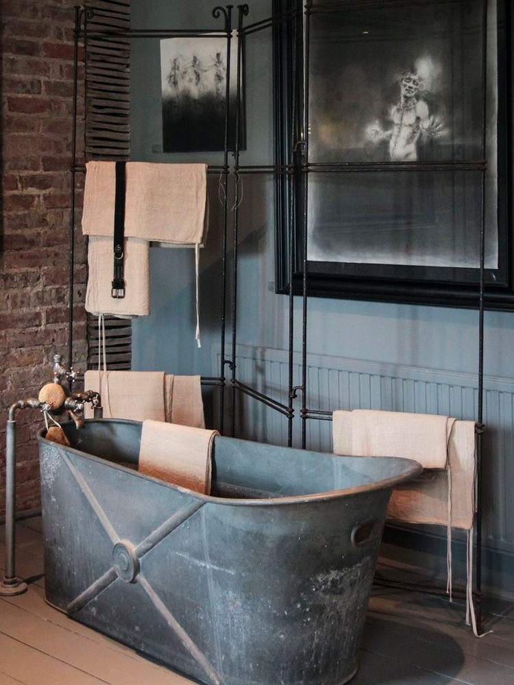 masculine bathroom bathtub