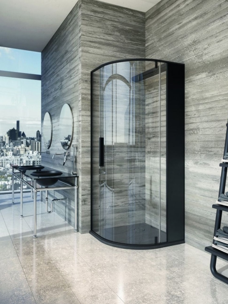 masculine bathroom glass design