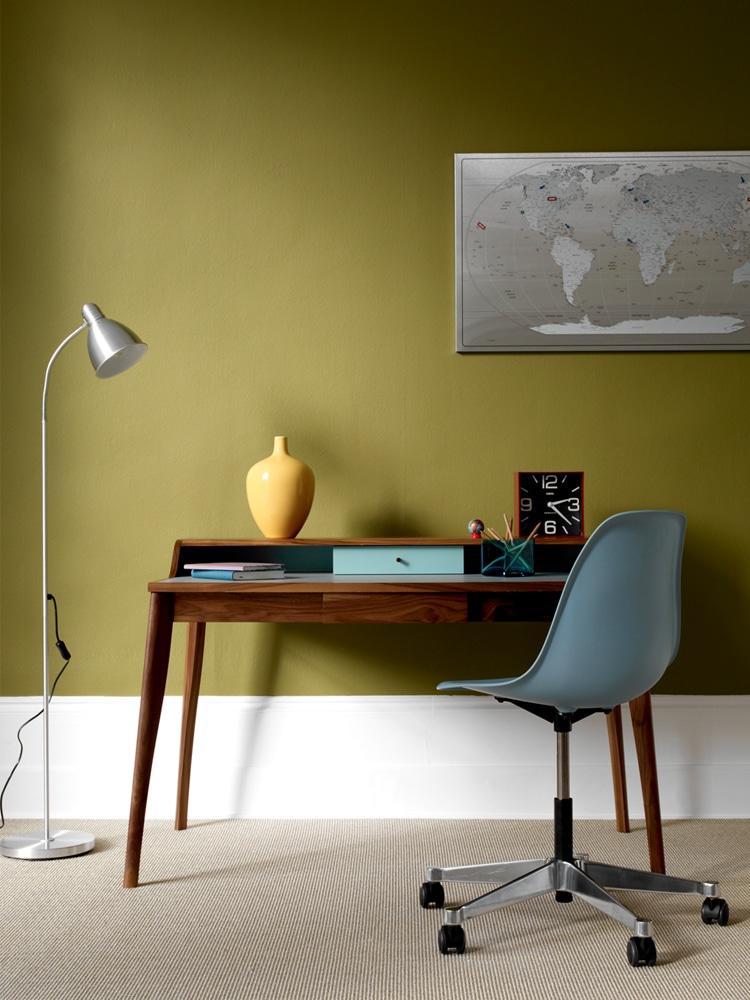 masculine home office smart desk design