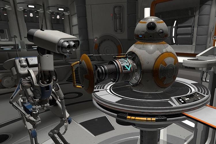 star wars  droid repair bay  vr experience