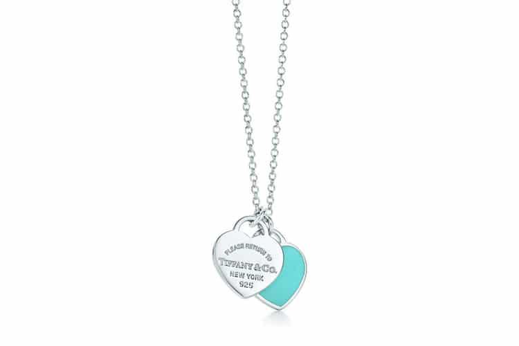 tiffany and co mini double heart tag pendant