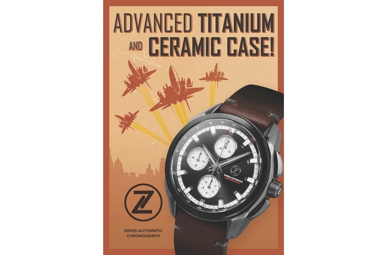 zelos watch advanced titanium and ceramic case