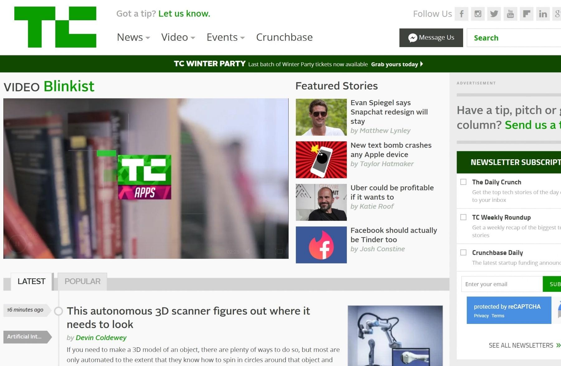techcrunch technology blogs
