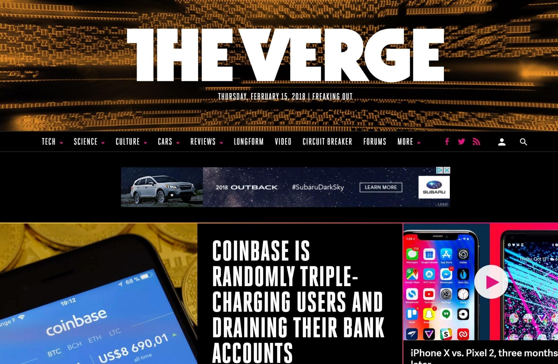 the verge best website