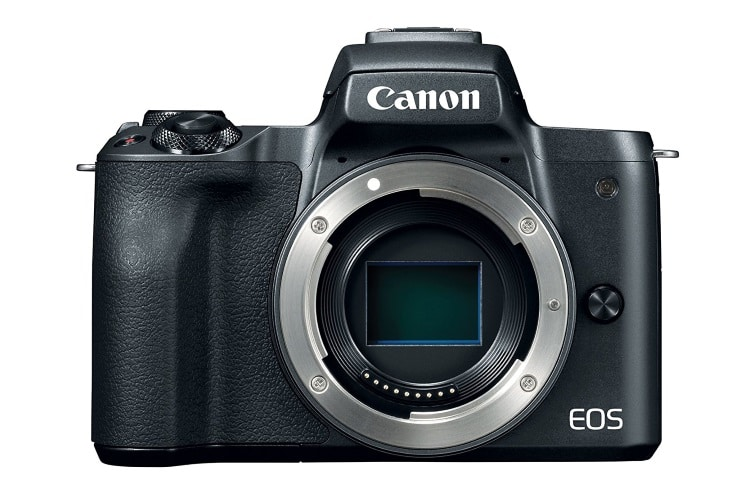 canon eos m50 mirrorless camera back side