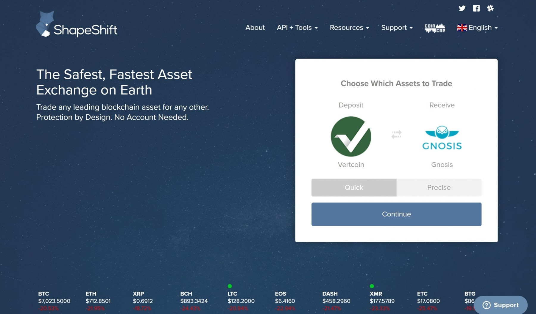 shapeshift website review